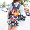 2017 new harajuku BOOM lightning English cartoons graffiti Simpson backpack women's eagle wings kite schoolbag men shoulder bag