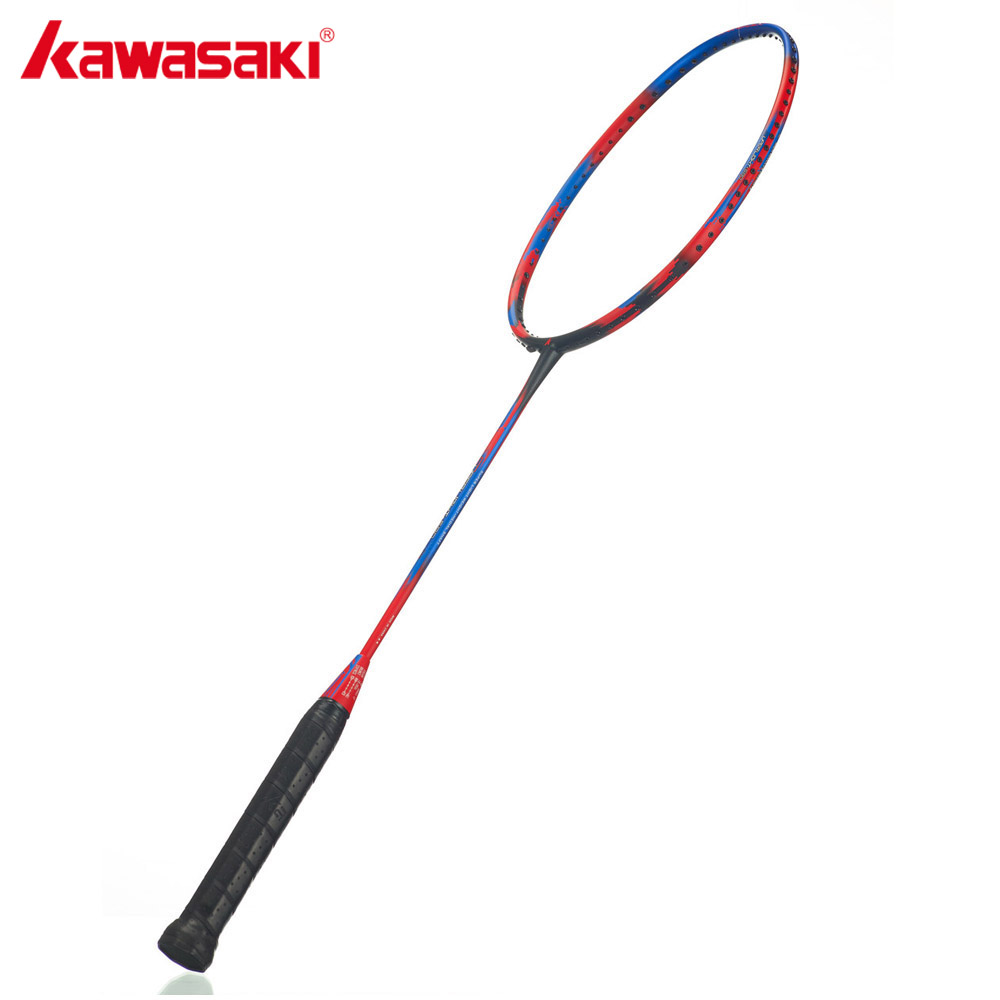 KAWASAKI Brand Ultralight Badminton Racket 6U Super Light 580 30T Airfoil Frame Graphite Racquet Professional 18-28 LBS