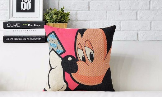 Buy Condom adult Pop art style Cartoon Mouse Pop pillow massager decorative travel pillows case home decor home cartoon popular