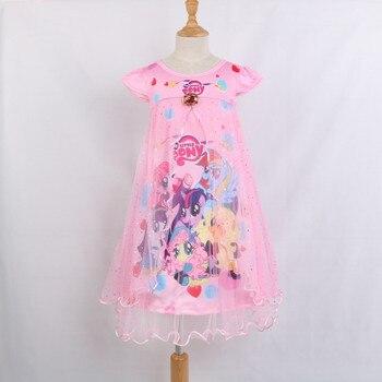5ea476a0b Vestidos de encaje de verano para Niñas Ropa de niña vestido de princesa de  mi pequeño Poli vestido de algodón para niños vestido lindo Pony nuevo