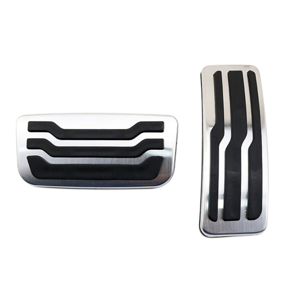 Foot Brake Gas Pedal Cover Fit For Ford Everest 2015 2017 Accelerator Oil Fuel Pad AT Automatic Transmission