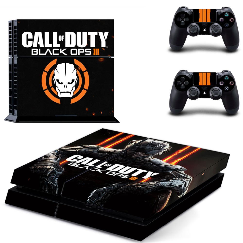 PS4 Designer Decal per PlayStation 4 Console di Sistema e PS4 Wireless Controller Dualshock-Call of Duty: Black Ops 3