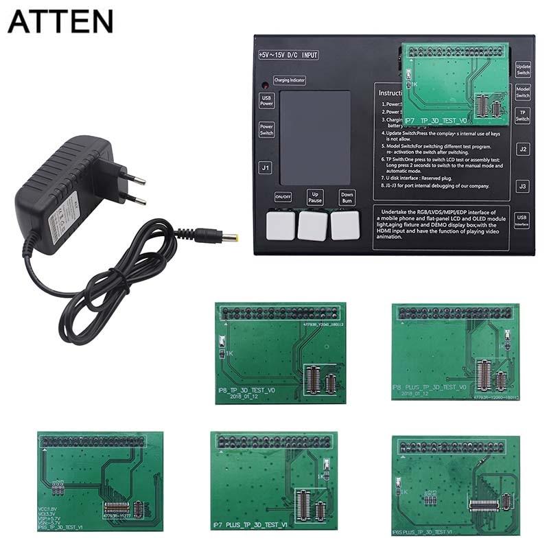 ATTEN pantalla LCD y digitalizador panel de pantalla táctil probador Placa de prueba para iphone 6 s 6 s plus 7 7 plus 8 8 plus caja de prueba de pantalla táctil