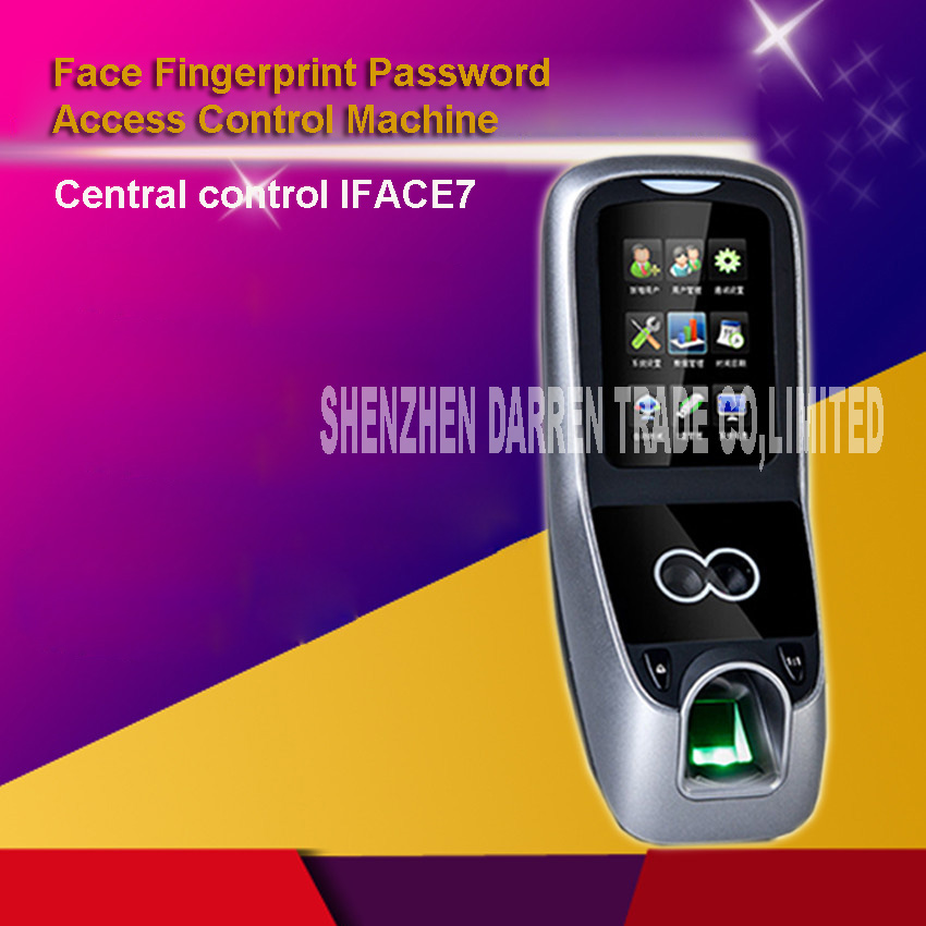 New Arrival Face Fingerprint Password Time clock Attendance IFACE7 Face Recognition Access Control 3 Inch Touch