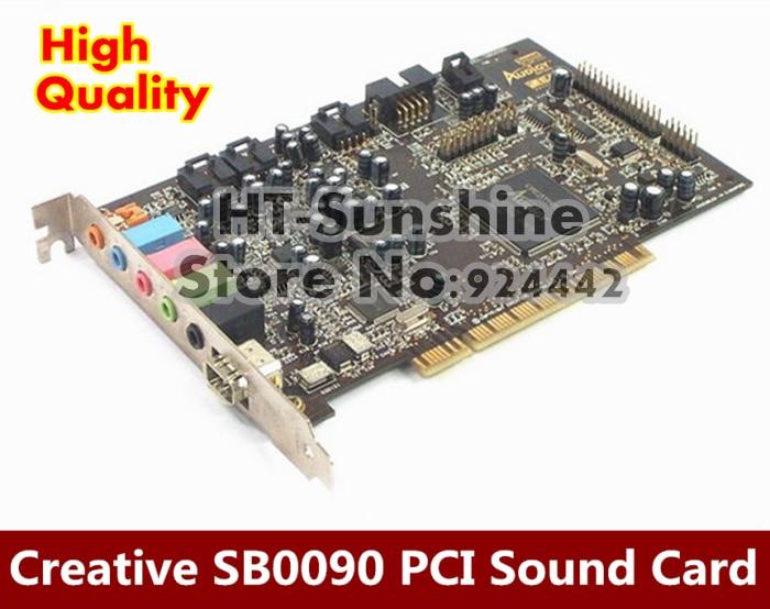 Original disassemble,For Creative Sound Blaster Audigy SB0090 PCI 5.1 Sound Card,100% working good ad1224mb f91gp 12cm 24v 0 68a original disassemble