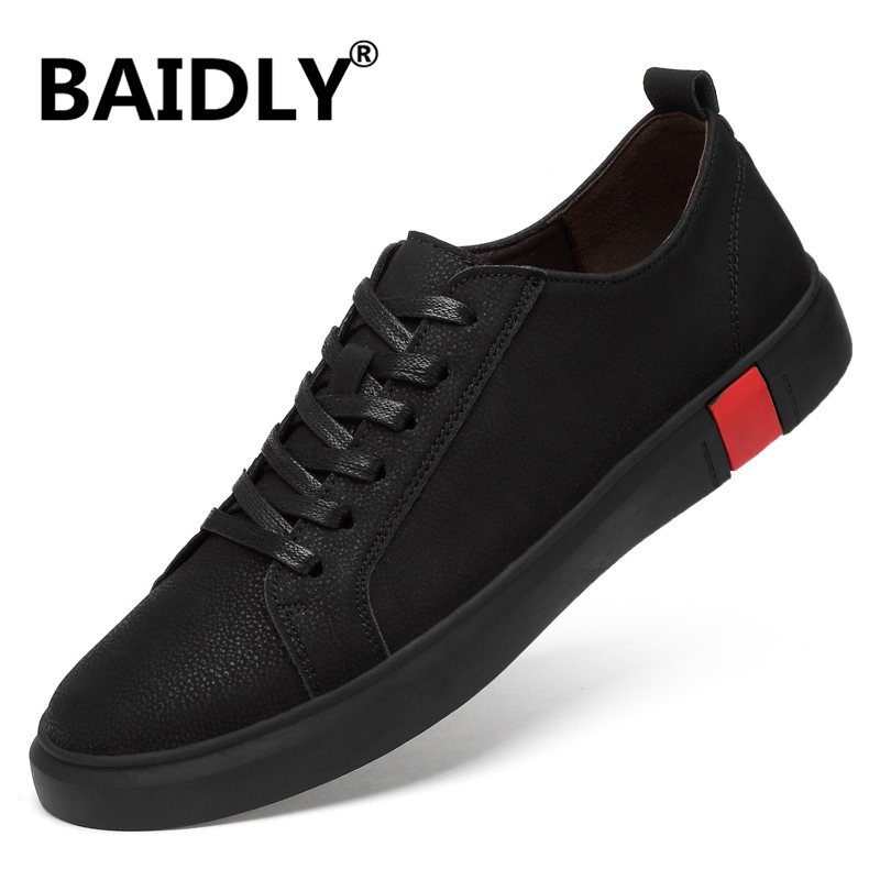 Men Shoes Male Genuine-Leather Spring Autumn Big-Size New-Fashion Footwear Lace-Up Breathable