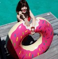 INS Fun Inflatable Raft Gigantic Doughnut Swimming swim ring for Adults Game Float bathing toys Summer Water giant pool tube