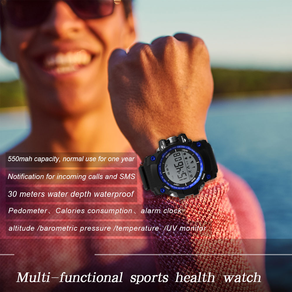 original Bluetooth SmartWatch Sports watch with Diving 30M Waterproof Temperature Monitor Pedometer Altitude Alarm Smart watch-in Smart Watches from Consumer Electronics    1