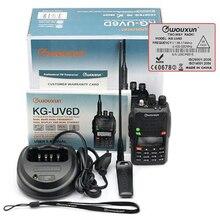100% Original Radio Walkie Talkie WouXun KG-UV6D Handheld VHF/UHF 136-174/400-470MHz FM Dual Band Ham Two Way Radio Transceiver