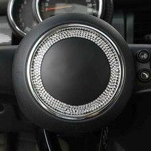 Steering Wheel Center Crystal Sticker Decor Cover For Mini Cooper JCW One+ S F54 F56 F55 F60 R55 R56 R57 R58 R60 R61 Car Styling