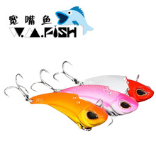 Sea fishing bait 20g VIB metal jig lure spoon isca artificial bass carp fishing China products 3d lures equipment free shipping