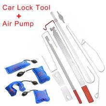 1 zestaw blokada drzwi samochodu zestaw narzędzi do naprawy awaryjnej z pompą powietrza Automotive Emergency Open Unlock Tools naprawa samochodów
