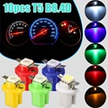 10Pcs T5 B8.4D 5050 1SMD Car LED Dashboard Dash Gauge Auto Instrument  Indicator Wedge Lights Bulbs Blue/White/Red/Yellow/Green