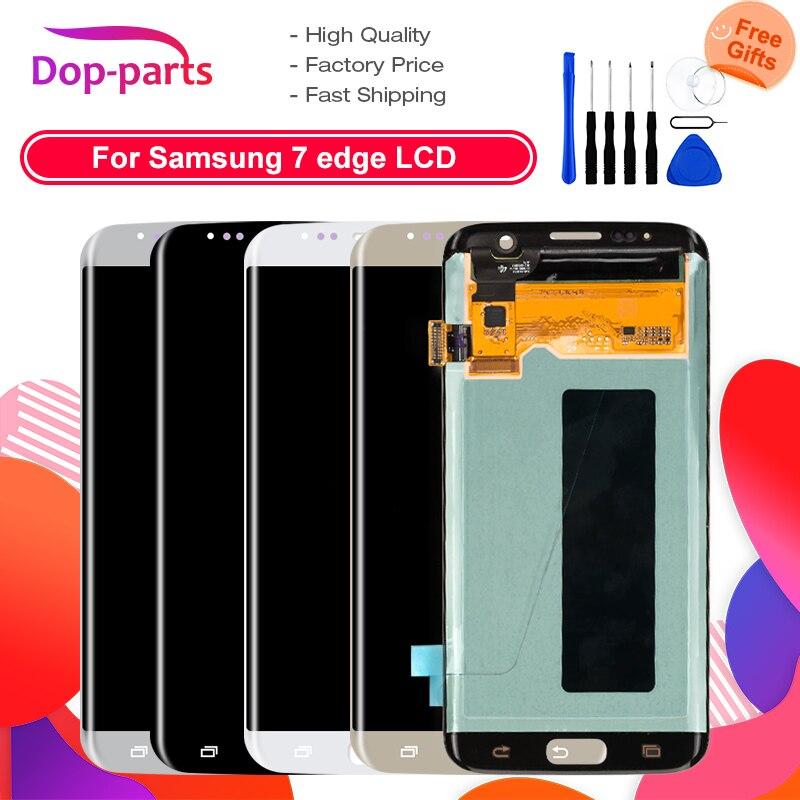 100% LCD d'origine pour Samsung Galaxy S7 edge G935 G935F LCD écran tactile numériseur assemblée pièces de rechange