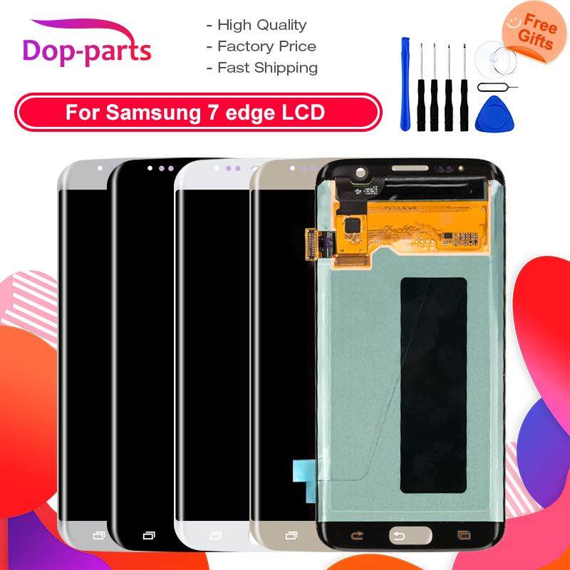 100% ORIGINAL <font><b>LCD</b></font> For <font><b>Samsung</b></font> Galaxy S7 edge <font><b>G935</b></font> G935F <font><b>LCD</b></font> display touch screen digitizer Assembly replacement parts image