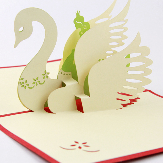 5p Lot Cartoon Swan Angel Creative Design 2015 New Hand Made Craft