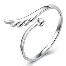 imixlot Hot Sale Fashion Silver Plated Joint Angel Wings Opening Ring New Pattern Style Popular Trendy Jewelry