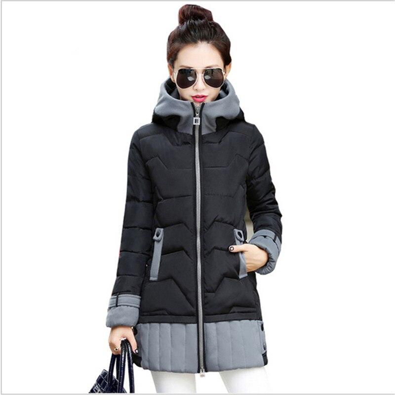 ФОТО Winter Jacket Korean Fashion Women Long Trick Female Warm Down Jacket Ladies Plus Size Parka Coat Women Clothes