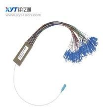 Envío por EL CCSME a Rusia cerca de 10-20 días 1*64 tubo de acero de 0.9mm 1 m con conector SC/UPC fibra óptica PLC Divisor