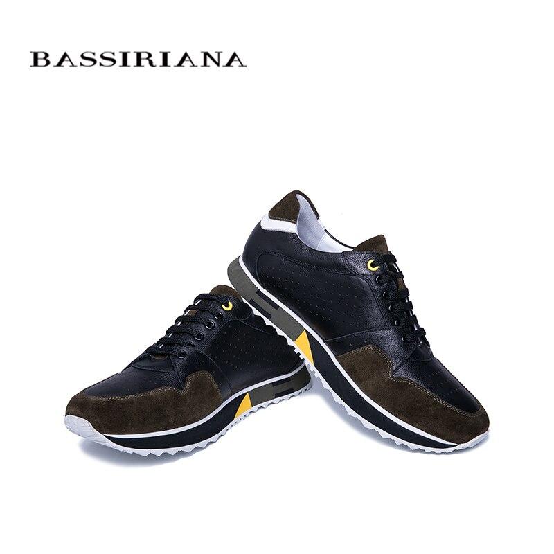 BASSIRIANA 2019 neue mode männer casual schuhe natürliche leder frühling und herbst Spitze up schwarz und blau größe 39 45-in Freizeitschuhe für Herren aus Schuhe bei  Gruppe 3