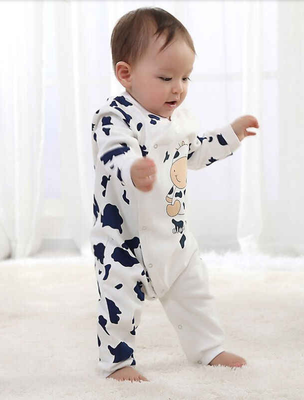 Pasgeboren baby jongens meisjes 2019 lente baby Rompertjes meisjes romper Baby fleece Cartton Jumpsuit voor kinderen pasgeboren baby kleding