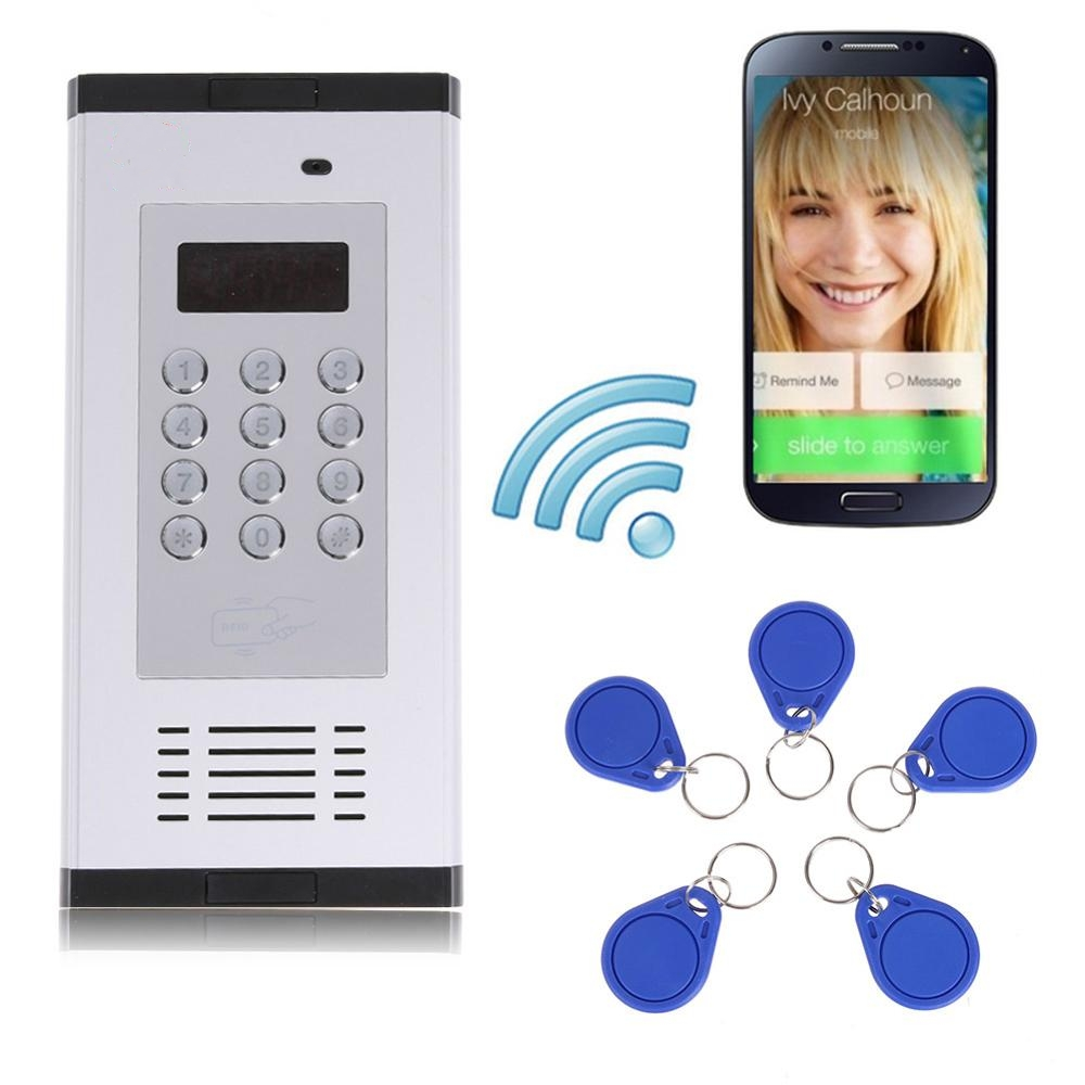 3G GSM Apartment Intercom Access Control System Support to Open Door by Phone Call RFID SMS Command Remote Control Gate Opener k6s gsm apartment intercom access control system free call charge door open press button remote controller 850 900 1800 1900mhz