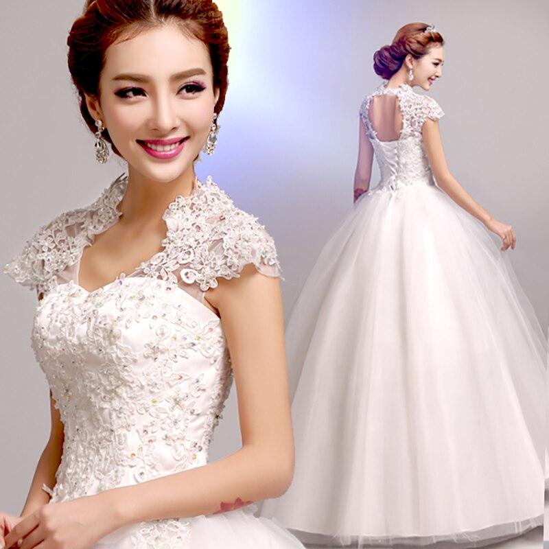 Fansmile 2020 Robe De Mariage Princess Short Sleeve Lace Ball Gown Wedding Dress Custom Made Vestido De Noiva FSM-579F