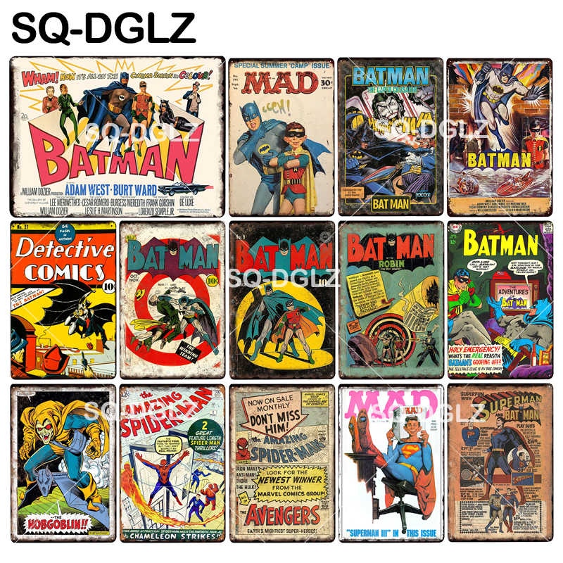 [SQ-DGLZ] New Super Hero Tin Sign Metal Sign Wall Decoration Metal Crafts Painting Plaques Art Poster