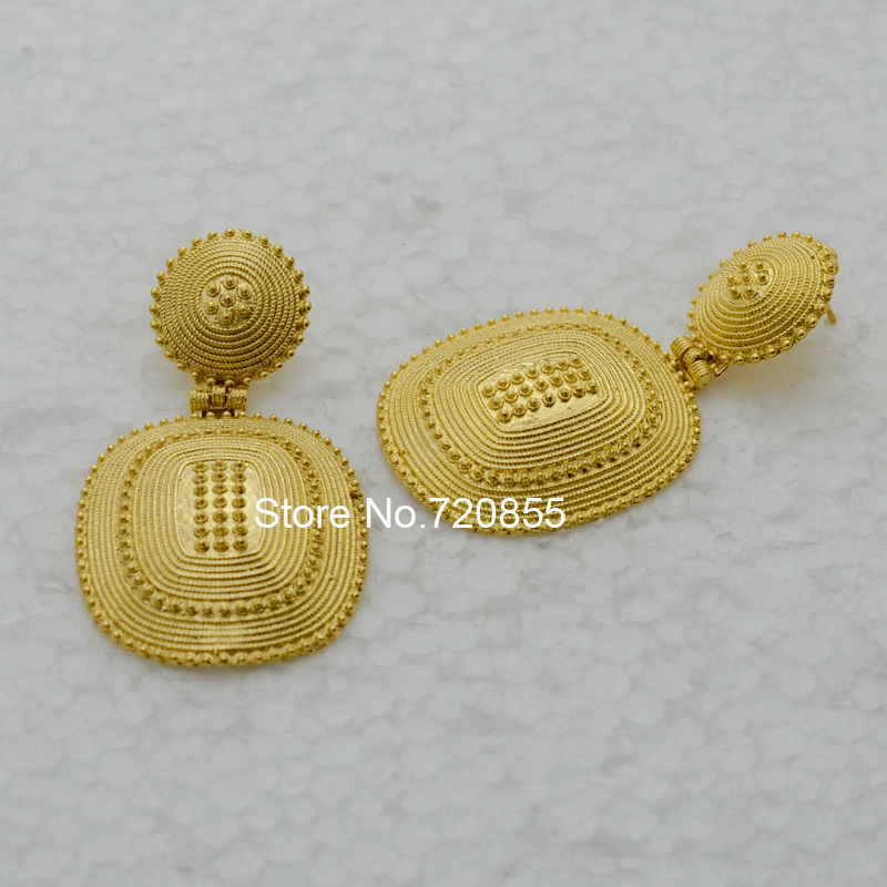 new style ethiopia traditional earrings gold jewelry fashion 18k ...