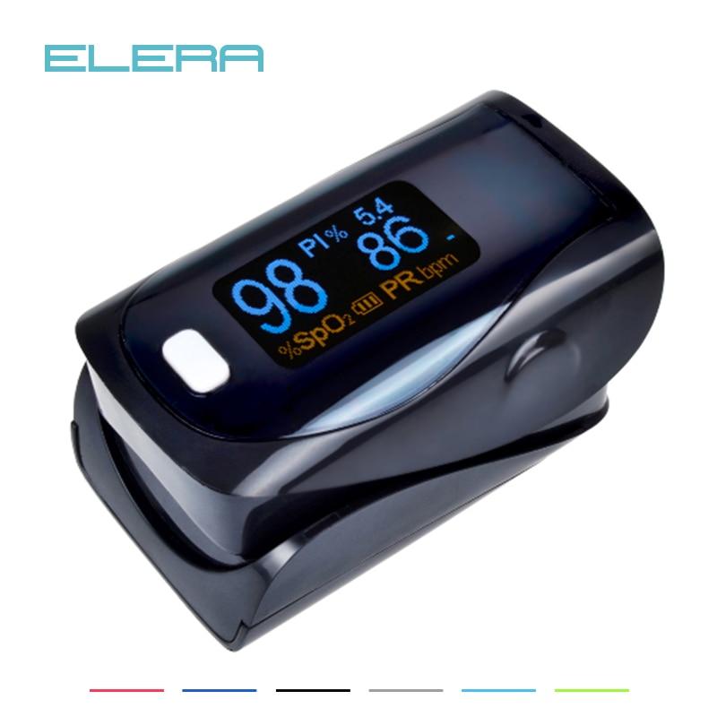 ELERA Alarming Digital finger oximeter CE FDA pulse oximeter a finger, pulsioximetro SPO2 PR oximetro de dedo Free P&P