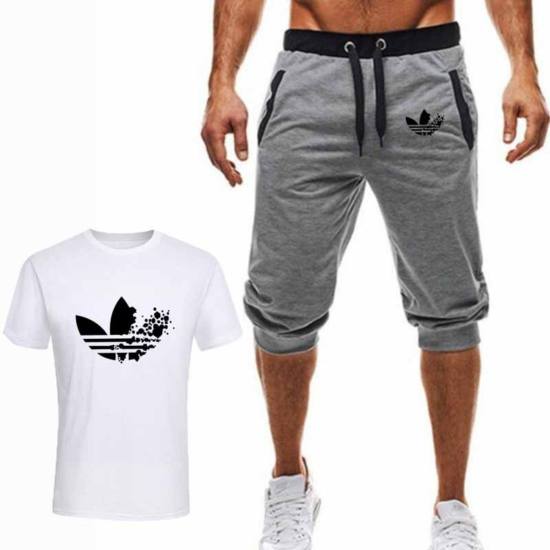 two-piece-set-men-short-sleeve-t-shirt-cropped-top-shorts-men's-tracksuits-2019-new-causal-sportswear-tops-short-trousers
