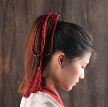 Handmade Braided Hair Rope bands Vintage Tassel Ribbons Belt  Chinese Ethnic Accessories Weave Head Ornaments