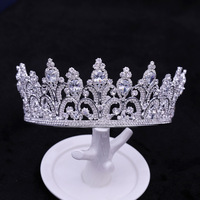 Luxury Rhinestone Crown Hairband Vintage Crystal Bridal Tiara Wedding Accessory Women Party Pageant Tiaras and Crowns