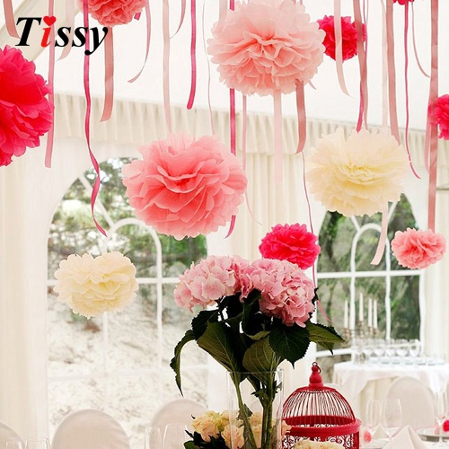 10pcs 4inch10cm handmade tissue paper pom poms paper flower ball 10pcs 4inch10cm handmade tissue paper pom poms paper flower ball pompom home gardenwedding birthday party decoration supplies in party diy decorations mightylinksfo