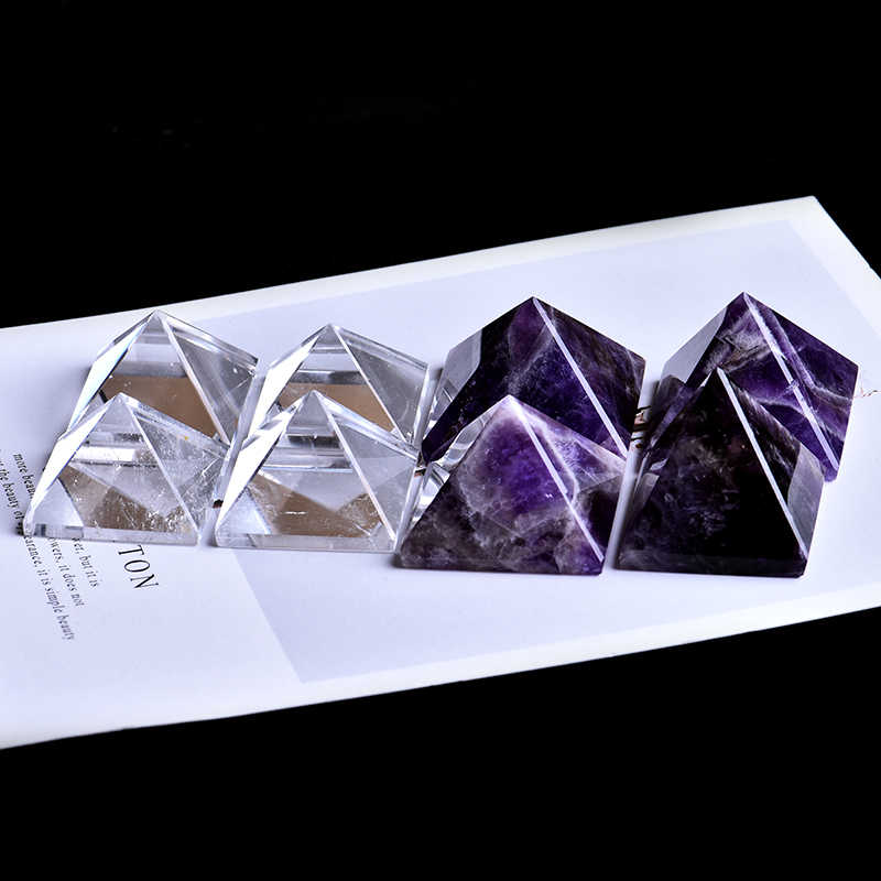 1PC Super beautiful natural crystal Amethyst Mineral pyramid Can be used for home decoration DIY gifts and meditation Free shipp