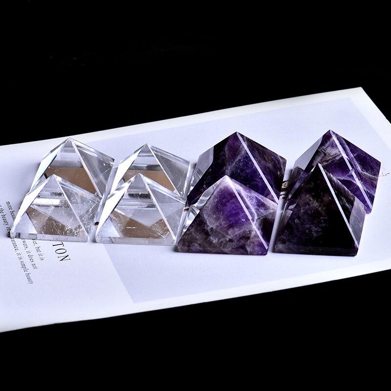 1 Pc Super Schöne Natürliche Kristall Amethyst Mineral Pyramide Kann Verwendet Werden Für Home Dekoration Diy Geschenke Und Meditation Freies Shipp Produkte Werden Ohne EinschräNkungen Verkauft