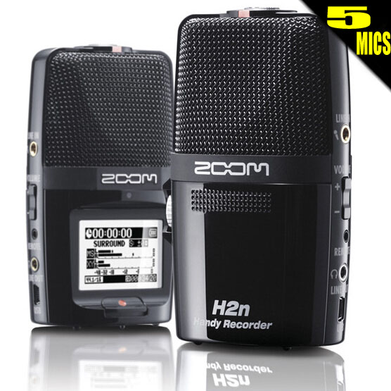W988 ZOOM H2N 5pcs MIC digital professional voice music meeting mp3 recorder SLR micro audio sound recording USB microphone удлинитель zoom ecm 3
