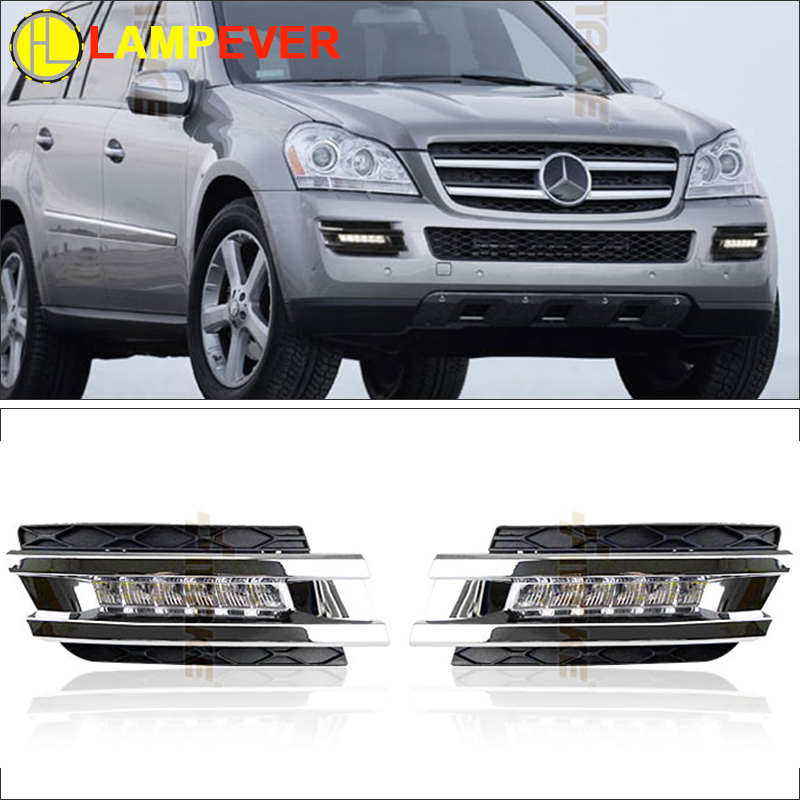 Lampever Car Led Daytime Running Lights For Mercedes Benz Gl Gl350 Gl400 Gl450 Gl500 X164 2006 2009 Drl With Fast Delivery In Light Embly From