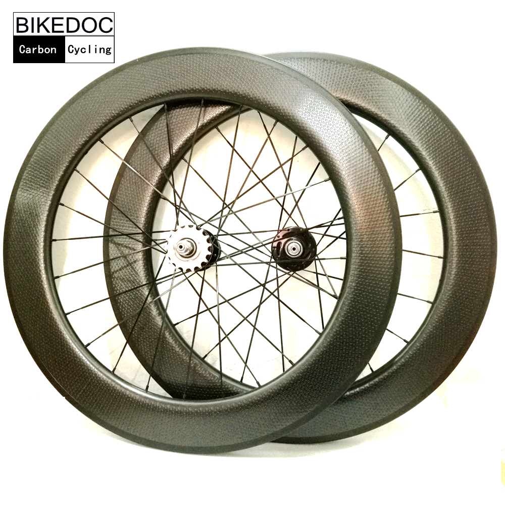 BIKEDOC Dimple Wheelset With Basalt Brake Surface Tubular And Clincher U Shape 25mm Width Fixed Gear Wheel /Track wheel