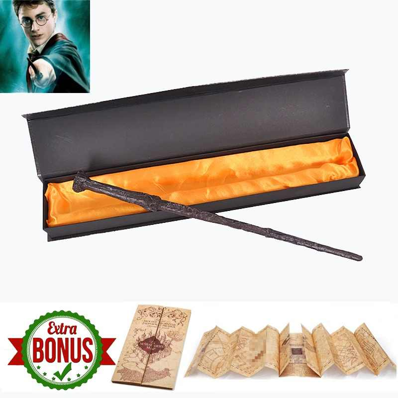 22 Kinds of Harri Potter Movie Magic Wands with Box  Severus Snape Lord Voldemort wand  The Marauder's Map as Free Gift