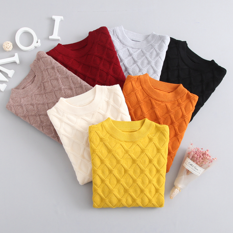2-7T New Clothing Baby Boy Girl Knitted Sweater Autumn Baby Kids Clothing Wear Sweaters Baby Winter Pullover Solid Color sundae angel baby girl sweater kids boy turtleneck sweaters solid winter autumn pullover long sleeve baby girl sweater clothes
