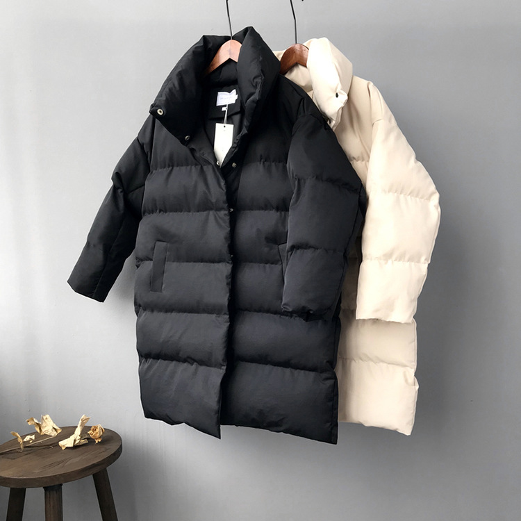 HXJJP Duck Down Jacket Women Winter 19 Outerwear Coats Female Long Casual Warm Down puffer jacket Parka branded 19