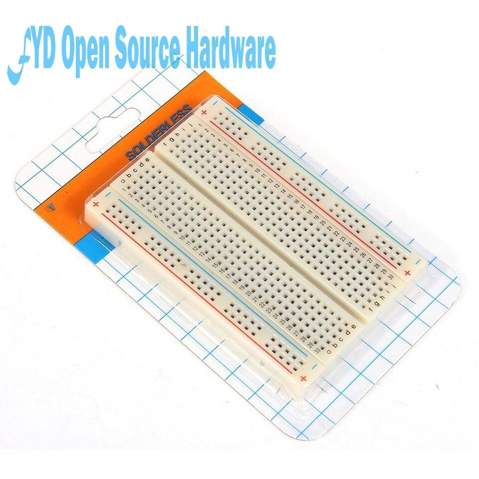Test de carte PCB Mini platine de prototypage planche à pain 400 Contacts disponibles 8.5x5.5 cm nouveau 8.5*5.5 CM SHUPPING gratuit