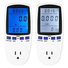 Medidor de Consumo de Energia Digital Inteligente Plugue Durável Tomada Interruptor Medição Potência Tensão Corrente Monitor Analyzer