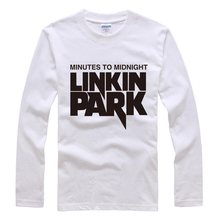 2016 New Band of Linkin Park Hip Hop Style Men's Long sleeves Cotton T Shirt