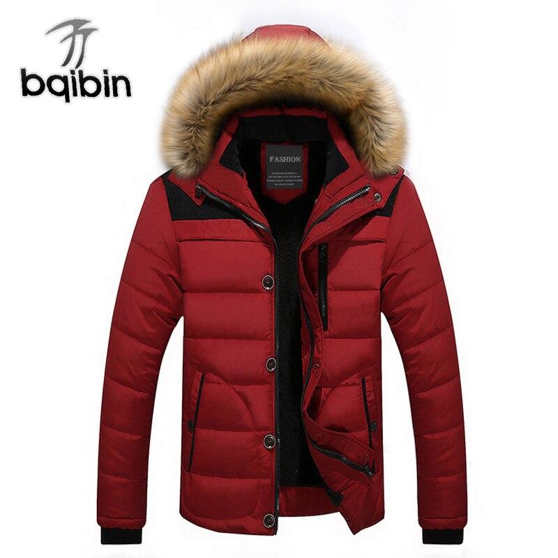 Winter Warm Jackets Men Cotton Parka Coat Men Casual Fur Collar Hooded Jackets Parka Men Thicken Jacket Outwear Plus Size 4XL