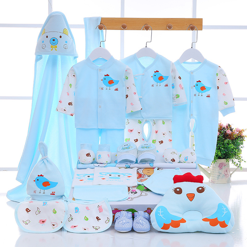 Emotion Moms Newborn Baby 0-3M Clothing Set Brand Baby Boy/Girl Clothes 100% Cotton Cartoon Underwear 21-25Pcs/Set newborn baby boy girl 5 pcs clothing set cotton cartoon monk tops pants bib hats infant clothes 0 3 months hight quality