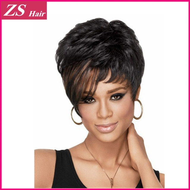 Awe Inspiring 100 Kanekalon 1Pc Pixie Cut Hairstyle Synthetic Wigs Short Hairstyles For Women Draintrainus