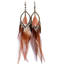 Elegant New Design Rivca Drop Chain Tassel Earrings Mixcolor Bohemia Crystal Beads With Tassel Earrings for Women Rated Jewelry(China)