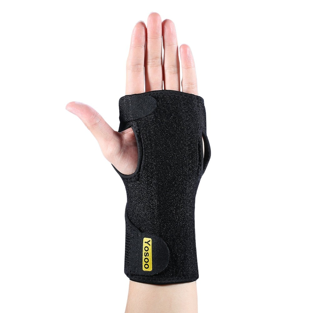 Yosoo 1PCs Medical Wrist Brace Neoprene Hand Sprains Arthritis Splint Brace Carpal Tunnel Syndrome Palm Support For Left & Right